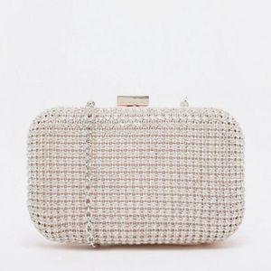 Aldo Formal Rhinestone Embellished Clutch Bag